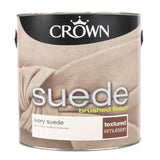 Paint & Varnish - Crown Textured Emulsion Paint - Ivory Suede - 2.5L