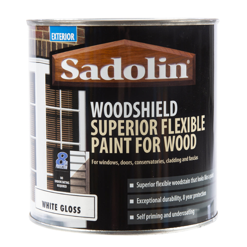 Paint & Varnish - Sadolin Extra Durable Woodstain - White Gloss - 1L