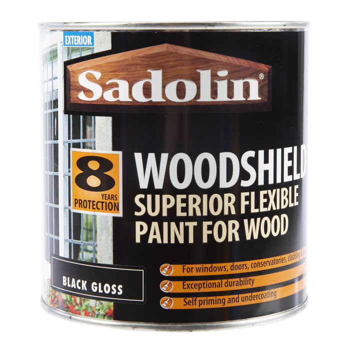 Paint & Varnish - Sadolin Extra Durable Woodshield - Black - 1L