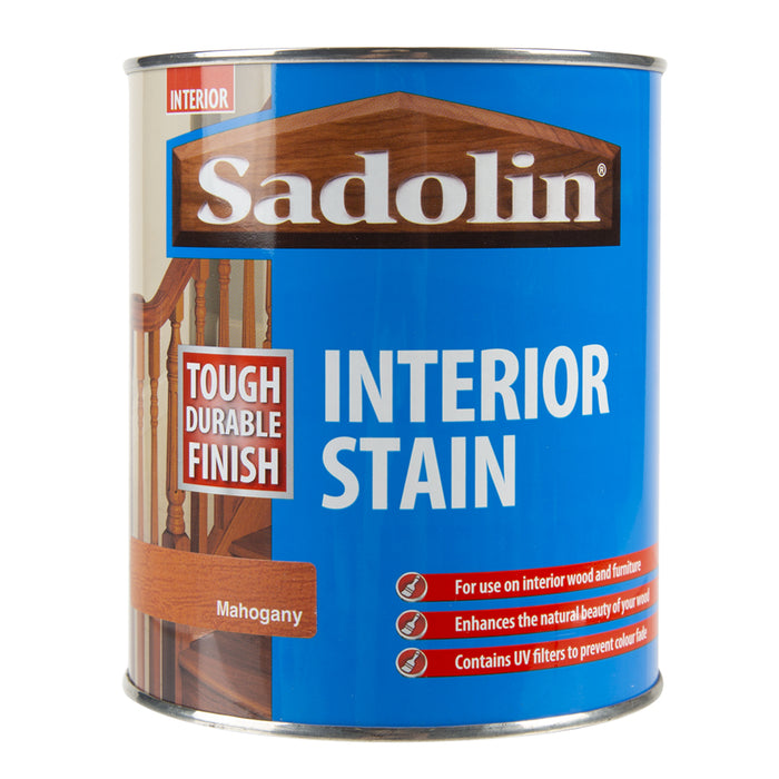 Paint & Varnish - Sadolin Interior Woodstain - Mahogany - 750ml