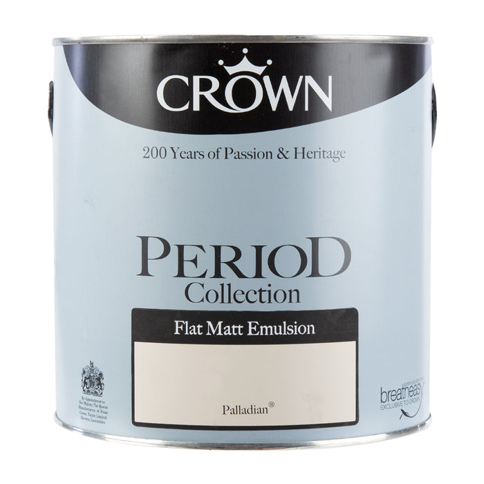 Paint & Varnish - Crown Period Collection Matt Paint - Palladian - 2.5L