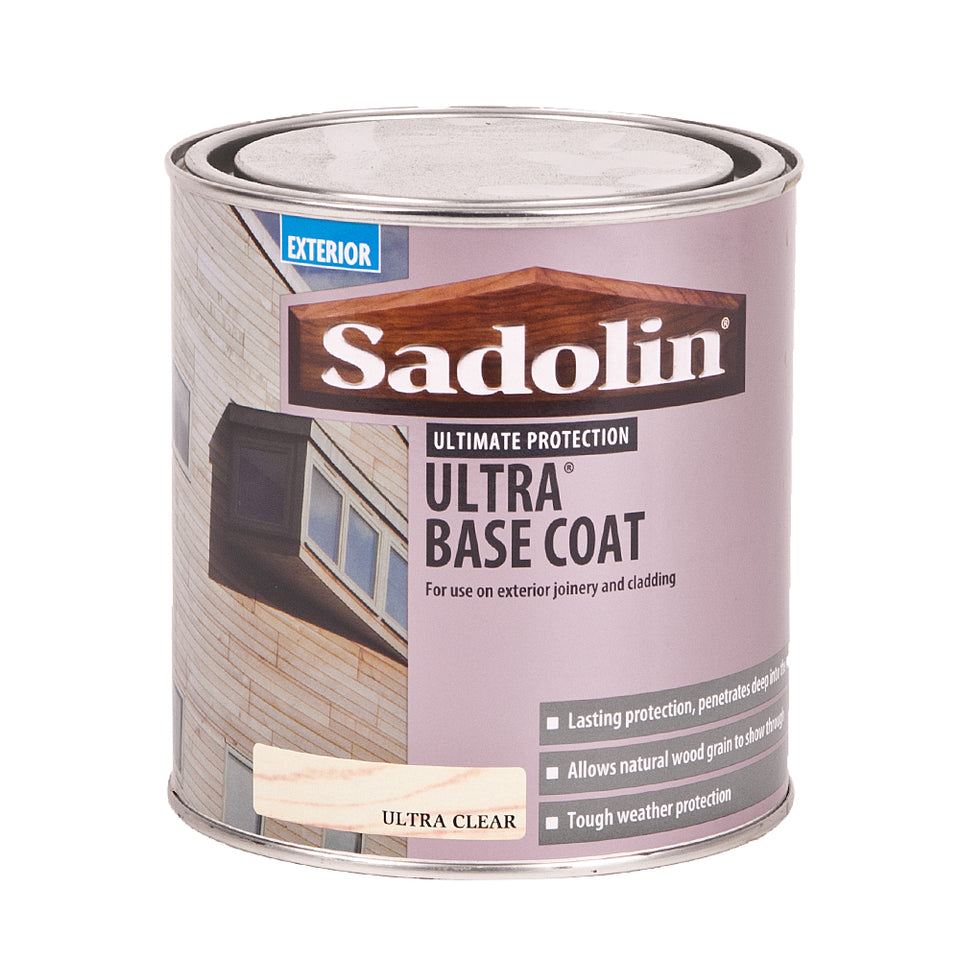 Paint - Sadolin Exterior Ultra Base Coat - 1L - Ultra Clear