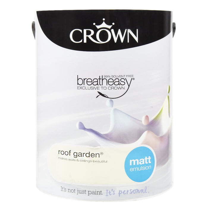Paint & Varnish - Crown Matt Emulsion Paint - Roof Garden - 5L