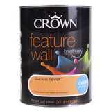 Paint & Varnish - Crown Matt Emulsion Feature Wall Paint Dance Fever 1.25L