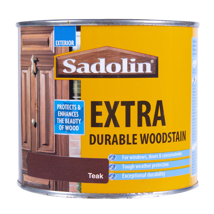 Paint & Varnish - Sadolin Extra Durable Woodstain - Teak - 500ml