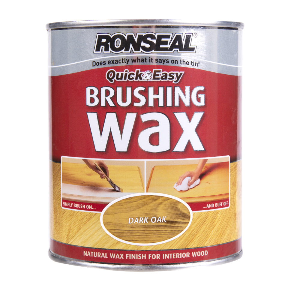 Paint & Varnish - Ronseal Natural Brushing Wax Dark Oak 750ml