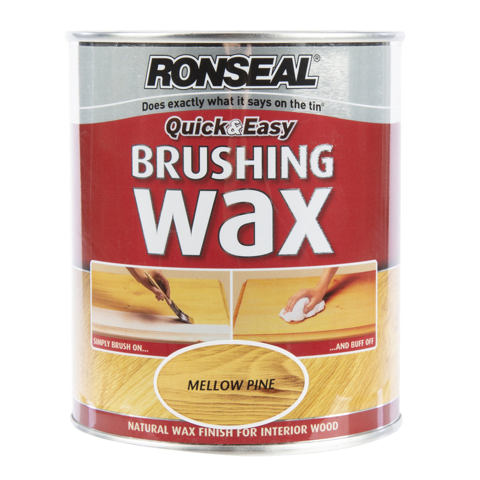 Paint & Varnish - Ronseal Brushing Wax - Mellow Pine - 750ml