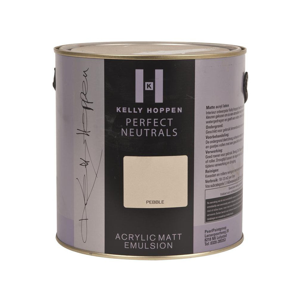 Paint - Kelly Hoppen Acrylic Matt Emulsion Paint - Pebble - 2.5L