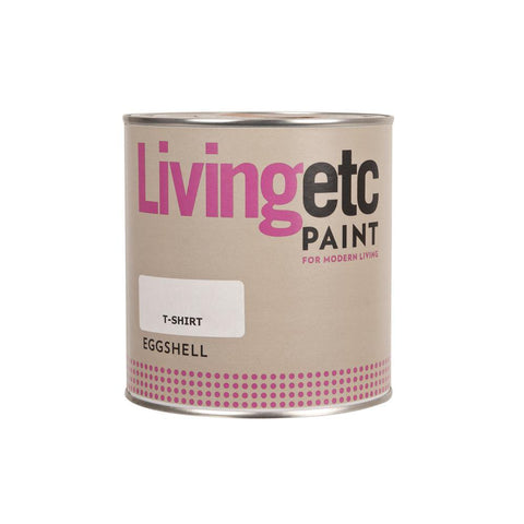 Living Etc Internal Paint - Acrylic Eggshell - T-Shirt White - 1L