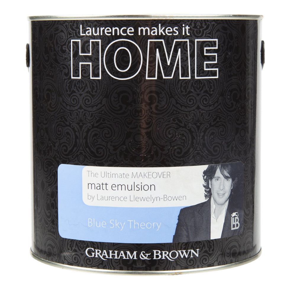 Paint & Varnish - Graham & Brown Matt Emulsion Paint - Blue Sky Theory - 2.5L