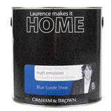 Paint & Varnish - Graham & Brown Mattt Emulsion Paint - Blue Suede Shoe - 2.5L