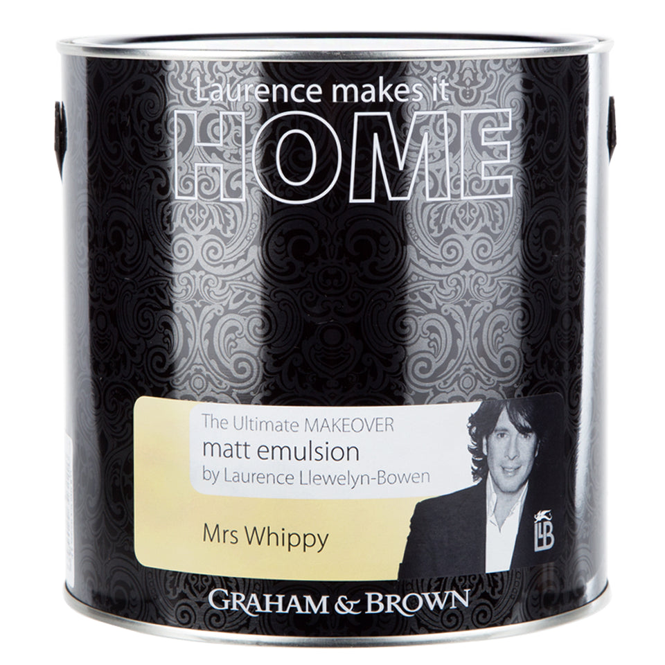 Graham & Brown Matt Emulsion Interior Paint - Mrs Whippy Yellow - 2.5L
