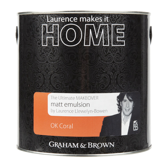 Paint & Varnish - Graham & Brown Mattt Emulsion Paint - Ok Coral - 2.5L