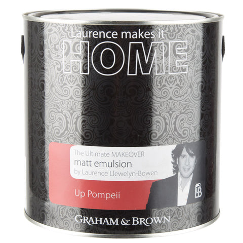 Graham & Brown Matt Emulsion Interior Paint - Up Pompeii - Red - 2.5L