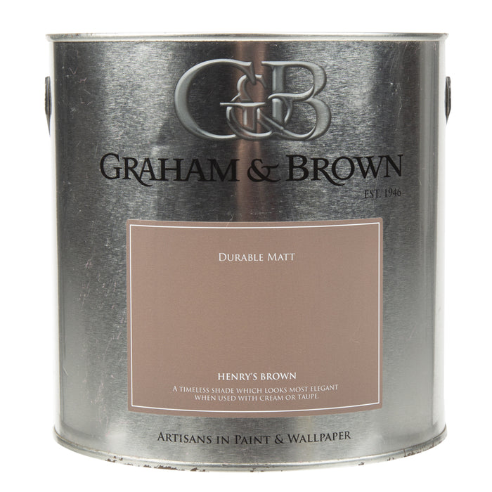 Paint & Varnish - Graham & Brown Matt Paint - Henrys Brown - 2.5L