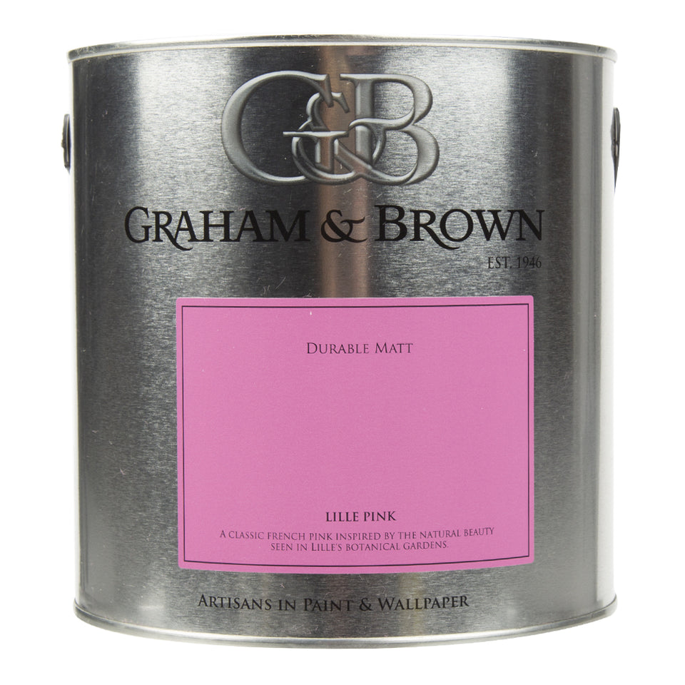 Paint & Varnish - Graham & Brown Durable Matt Paint - Lille Pink - 2.5L