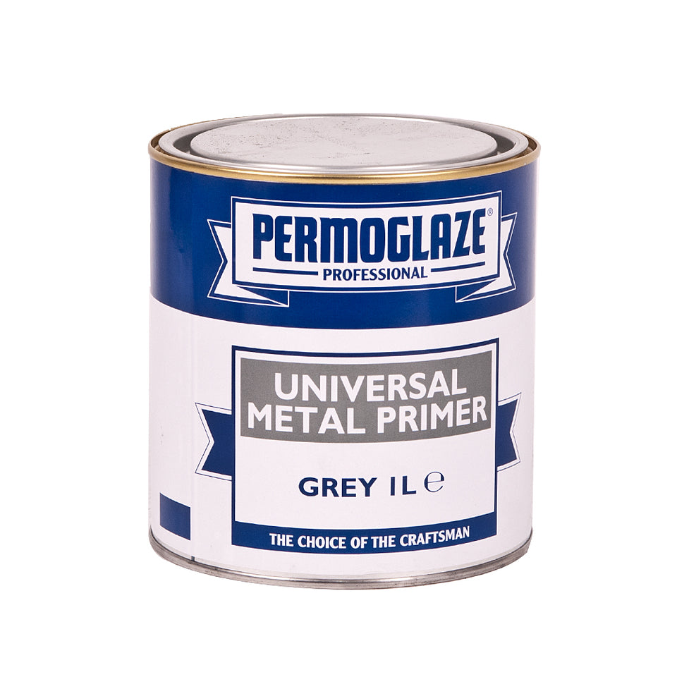 Paint & Varnish - Permoglaze Metal Primer - Grey - 1L