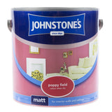 Paint & Varnish - Johnstones Matt Emulsion Paint - Poppy Field - 2.5L