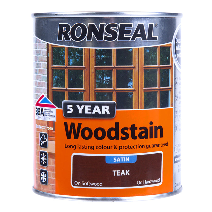 Paint & Varnish - Sadolin Satin Woodstain - Teak - 750ml