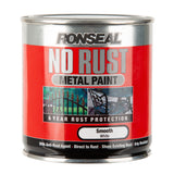 Paint & Varnish - Ronseal No Rust Metal Paint - Smooth White - 250ml