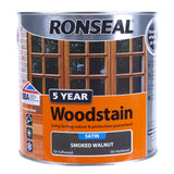 Paint & Varnish - Ronseal Satin Woodstain - Smoked Walnut - 2.5L