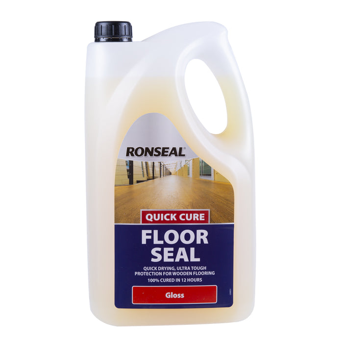 Paint & Varnish - Ronseal Quick Cure Floor Seal - Gloss - 5L