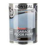 Paint & Varnish - Ronseal Diamond Hard Garage Floor Paint - Black Satin - 5L