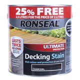 Paint & Varnish - Ronseal Decking Stain - Charcoal - 2.5L
