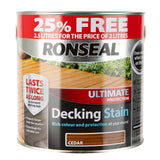 Paint & Varnish - Ronseal Decking Stain - Cedar - 2.5L