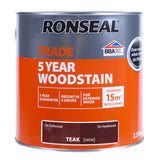 Paint & Varnish - Ronseal Satin Woodstain - Teak - 2.5L