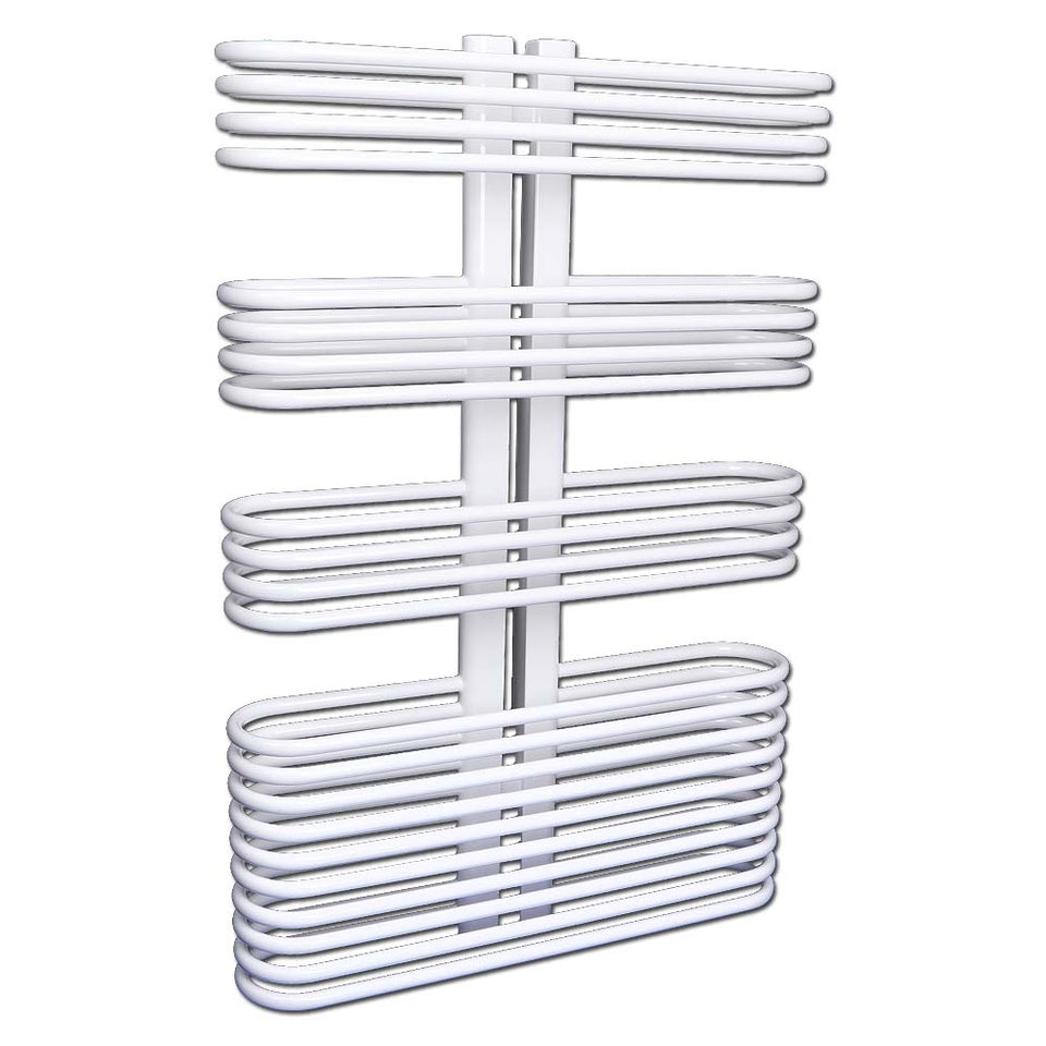 Heating Supplies - Bathroom Towel Radiator Curved White - H 830 x W 560mm