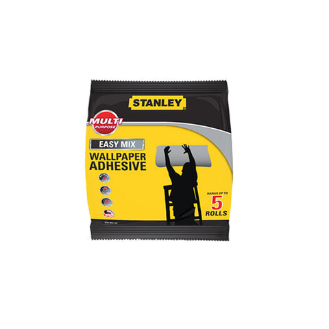 Stanley Wallpaper Paste Adhesive Powder - Up to 5 Rolls