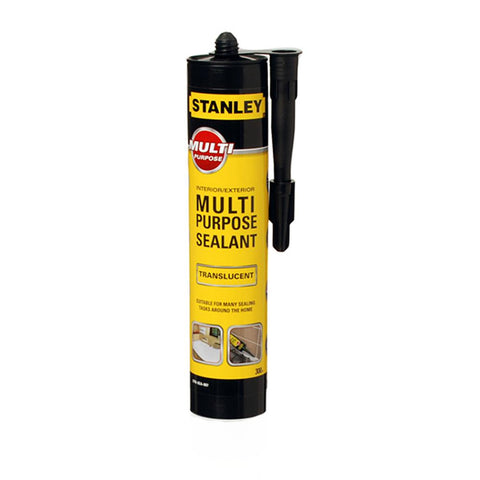 Stanley Multi Purpose Sealant/Adhesive Cartridge - Translucent - 300ml