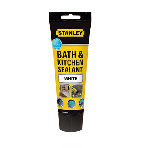 Stanley Bathroom & Kitchen Acrylic Sealant Tube - White - 200ml