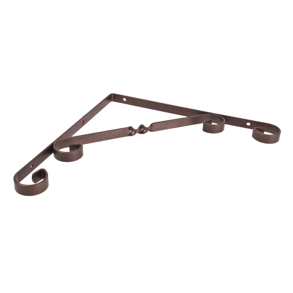 Spur Scroll Bracket - 250 x 250mm - Bronze
