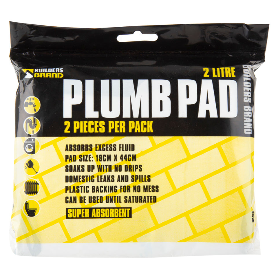 DIY & Tools - Builders Brand Absorbent Plumb Pads Pack of 2