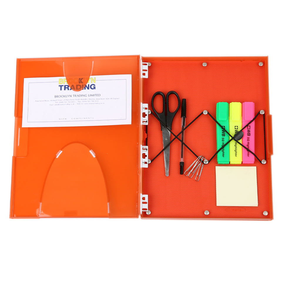 Rexel Modular Box Document Holder/Organiser With Peg Board - A4-Orange