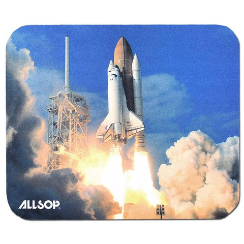 Allsop Computer Laptop Mouse Pad Mat - Anti-Slip Grip - Space Shuttle