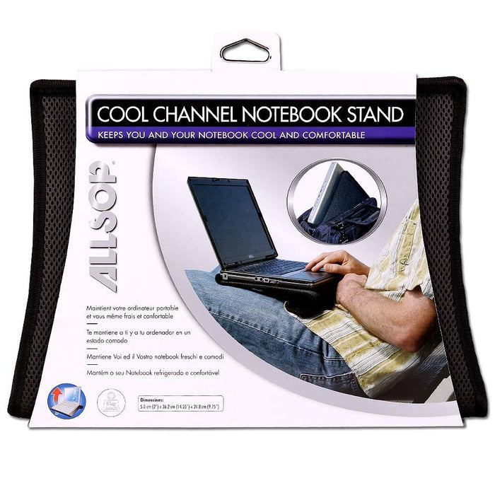 Portable Laptop Notebook Cooling Support Rest Stand Pad - Black - 36.2cm