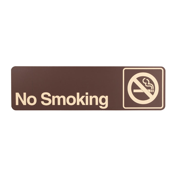 Styrox  Business Warning Signs - No Smoking - 330 x 95mm
