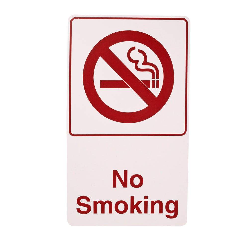Styrox  Business Warning Signs - No Smoking - 330 x 190mm