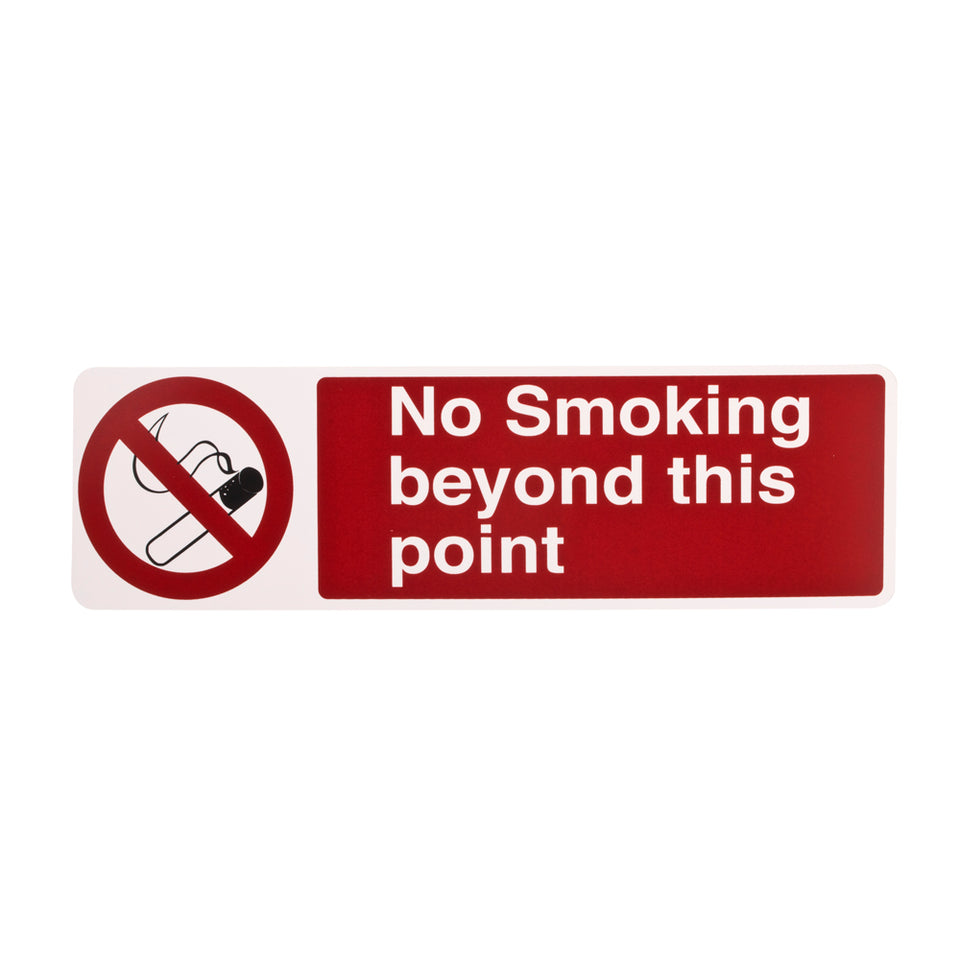 Styrox Adhesive Business Warning Signs - No Smoking - 330 x 95mm