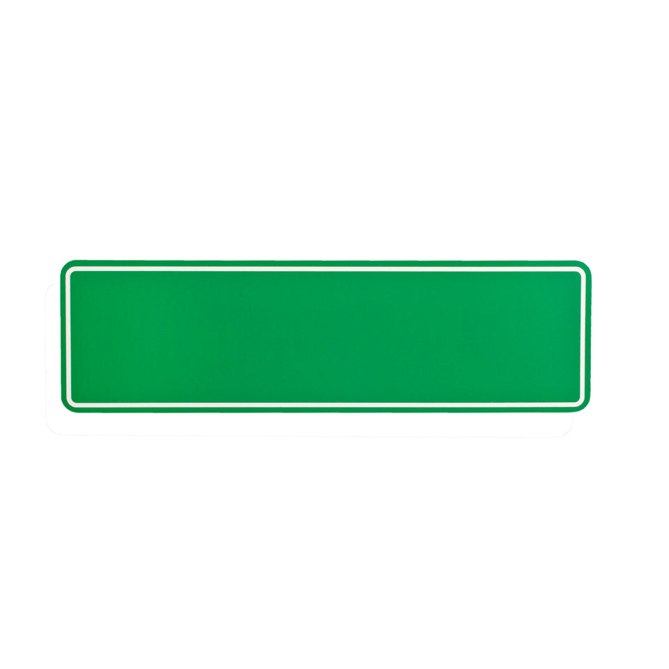 Styrox Adhesive Business Office Signs - Blank Green - 330 x 95mm