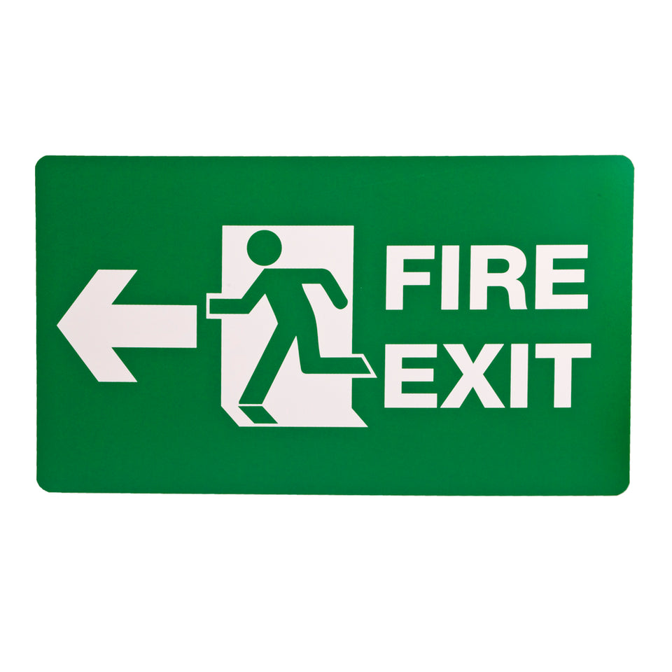 Styrox  Business Warning Signs - Fire Exit - 330 x 190mm