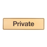 Styrox  Business Office Signs - Private Orange - 330 x 95mm