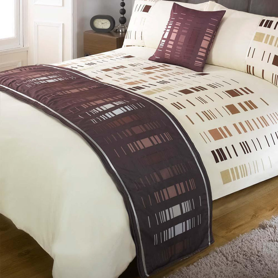Textiles - Bed In A Bag Duvet Bedding Set Quilt Cover - Staten Chocolate - Single