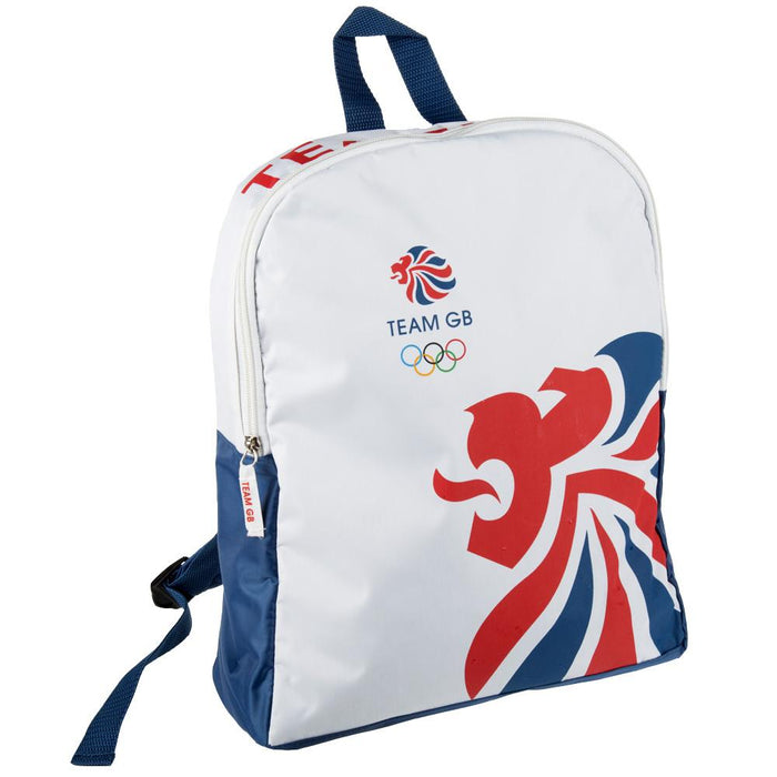 Team GB Olympic Themed Backpack - Travel Storage Rucksack Bag - White, Blue & Red