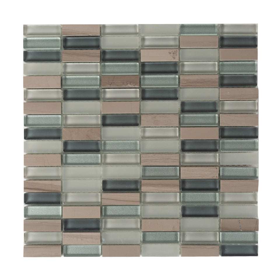 General - Bathroom & Kitchen Wall Mosaic Tiles - Limestone Honed - 30 x 30cm - Pack Of 10