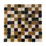 General - Bathroom & Kitchen Wall Mosaic Tiles - Brown, Clear & Dark Wood - 30 x 30cm - Pack Of 10