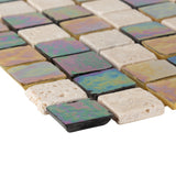 Bathroom & Kitchen Wall Mosaic Tiles - Natural & Diesel - 30 x 30cm - Pack Of 10